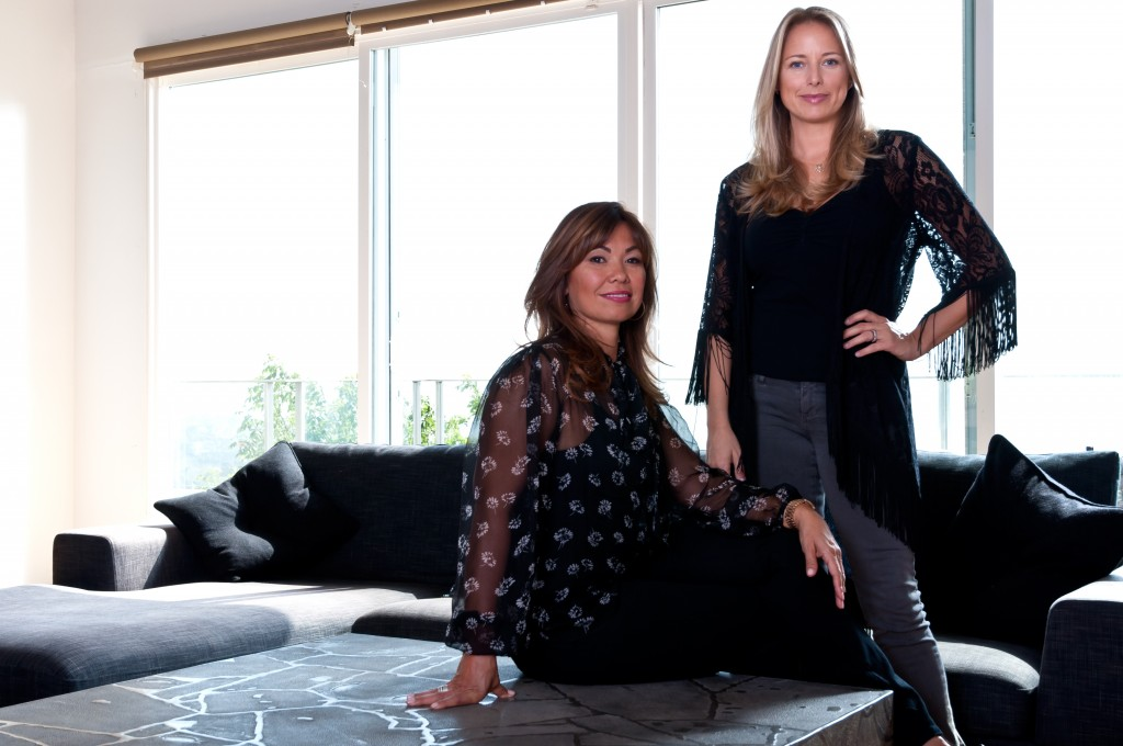 Carol Veronique and Laura Byford photographed in Malibu.