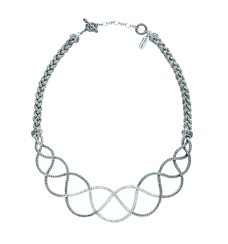 John Hardy Woven Braided Classic Chain Necklace