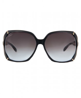 Gucci Square Bamboo-Trim Sunglasses