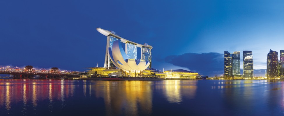 Marina Bay Sands Exterior_Sunset